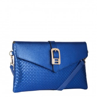 Flap Over Clutch With Buckle Detail