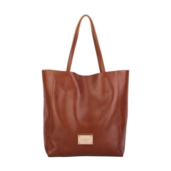 Soft Grain Leather Tote Bag