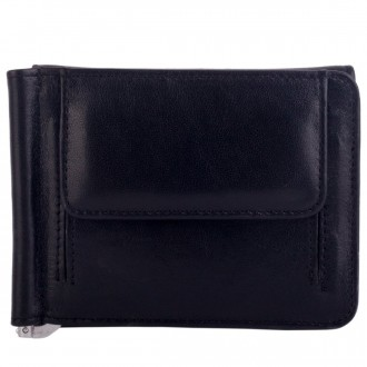 Pocketed Card Notecase With Money Clip