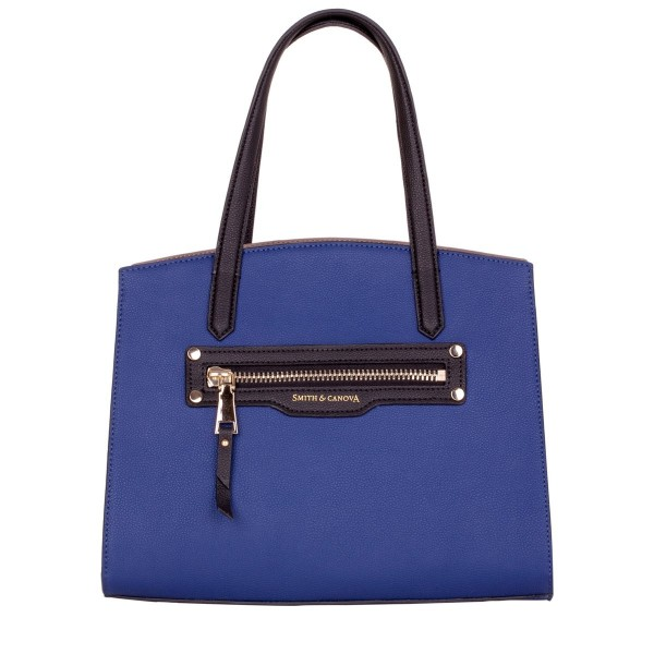 Twin Strap Contrast Colour Ziptop Bag