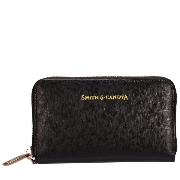 Small Saffiano Leather Zip Around Purse