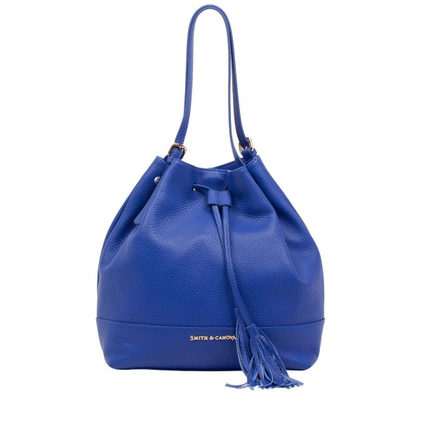 Pebbled Leather Hobo Shoulder Bag