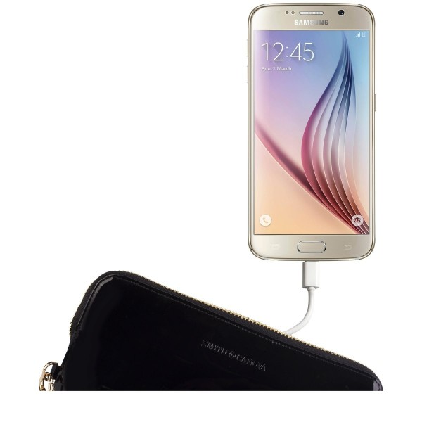 Leather Usb Charging Clutch / Purse