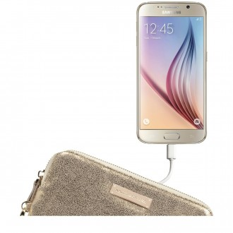 Metallic Leather Power Purse
