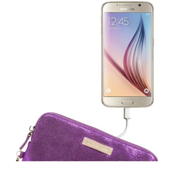 Metallic Usb Charging Clutch / Purse