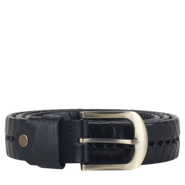 Wrapped Woven Leather Belt