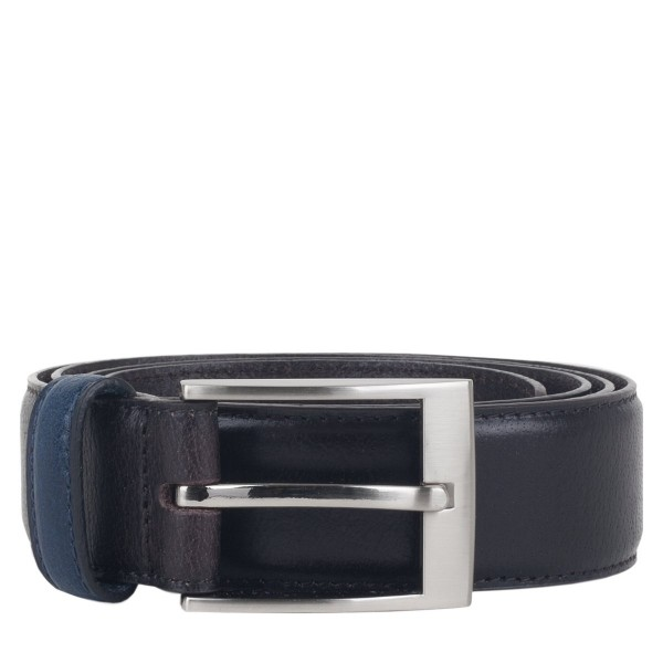 Contrast Keeper Leather Belt