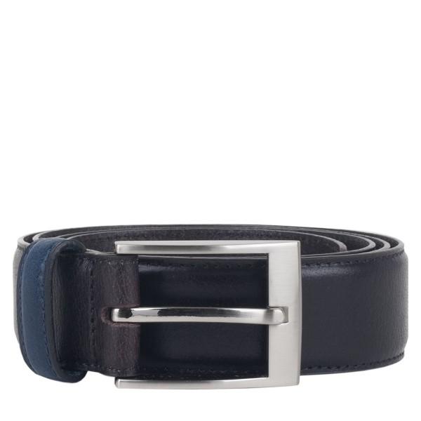 Contrast Keeper Leather Belt