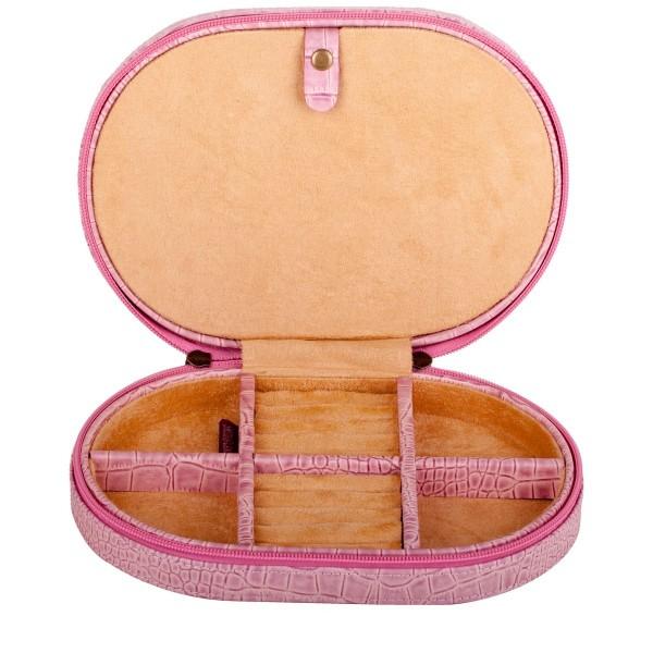 Leather Zip Around Jewellery Case
