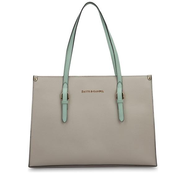 Pebbled Leather E/w Tote Bag