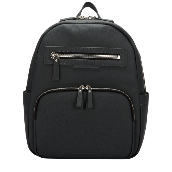 Backpack Rounded Ziptop Zip Front