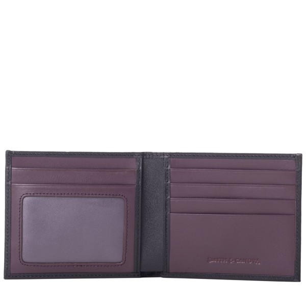 Two-tone Smooth Leather Bi-fold Wallet