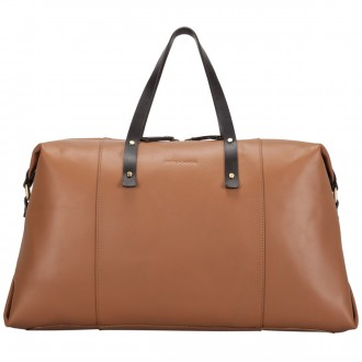 Smooth Leather Twin Strap Holdall