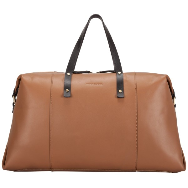Smooth Leather Zip Top Holdall