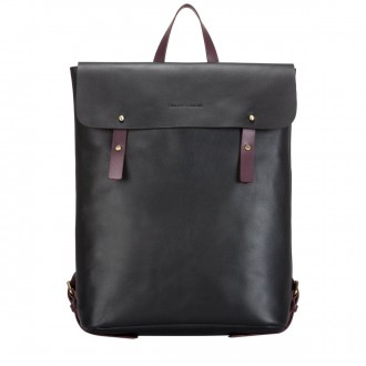 Smooth Leather Flapover Backpack