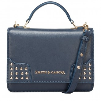 Corner Studded Flapover Cross Body