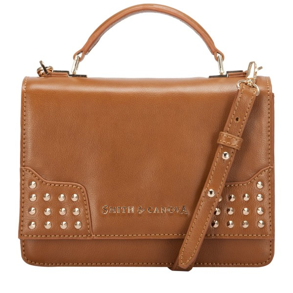 Corner Studded Flapover Cross Body Bag