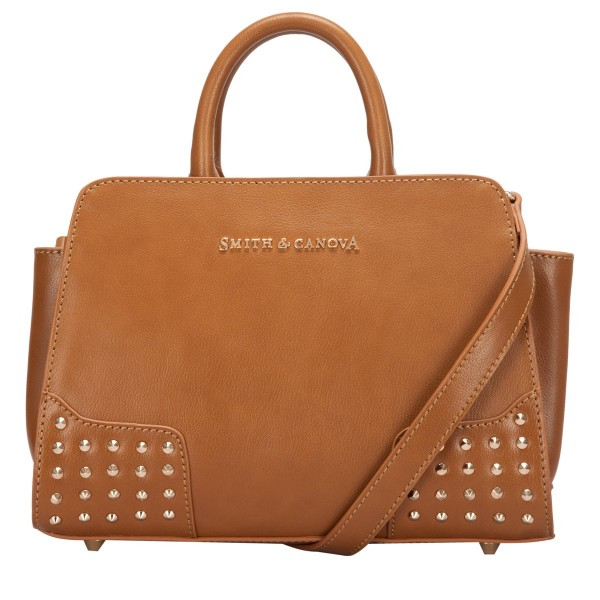 Corner Studded Small Zip Top Grab Bag