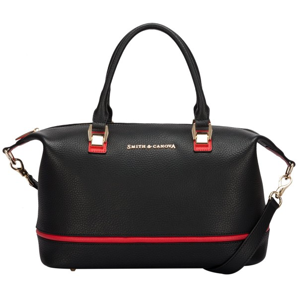 Two-tone Leather Slouch Grab Bag
