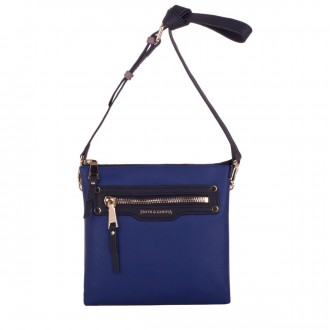 Zip Top Front Pocket Detail Cross Body