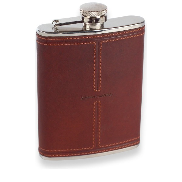 Oil Tanned Leather 6oz Hipflask