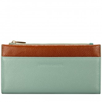 Long Zip Top Pocketed Purse
