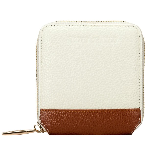 Pebbled Leather Square Zip Purse
