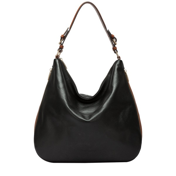 Pebbled Leather Slouch Shoulder Bag