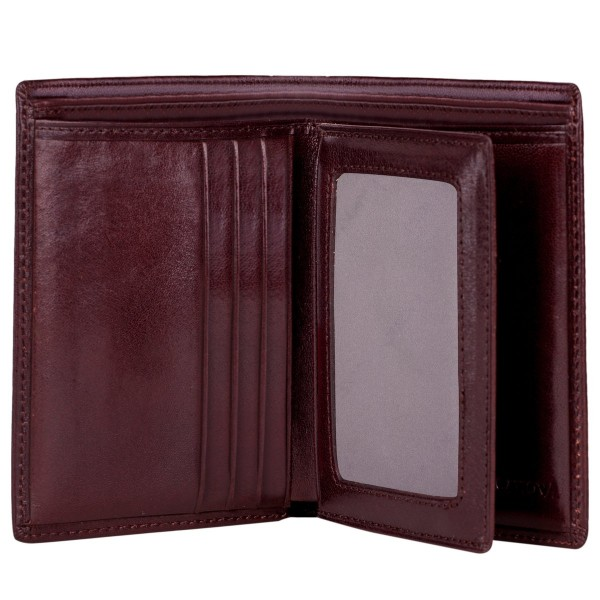 Antiqued Leather Card & Id Wallet