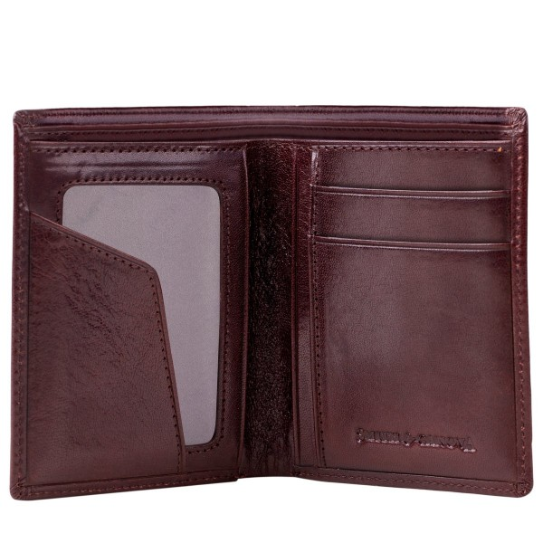 Antiqued Leather Bi-fold Wallet