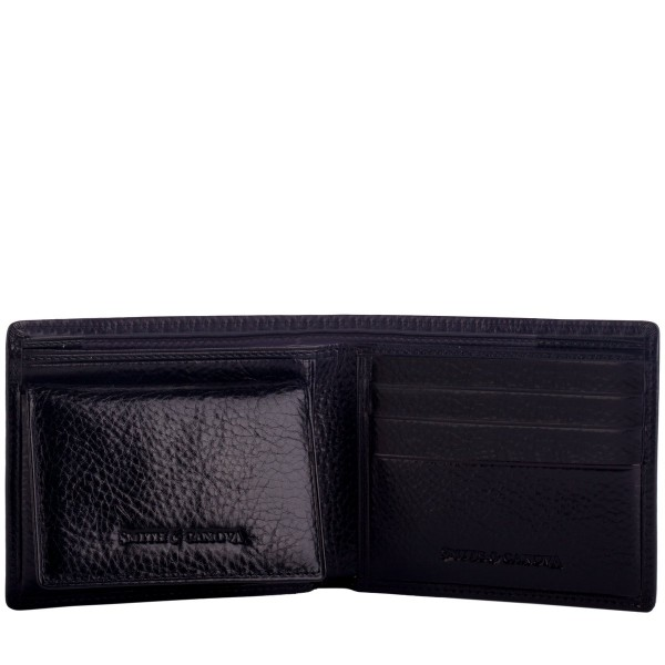 Pebbled Leather Bi-fold & Photo Wallet