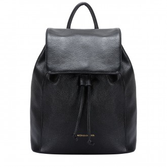 Flapover Drawstring Backpack