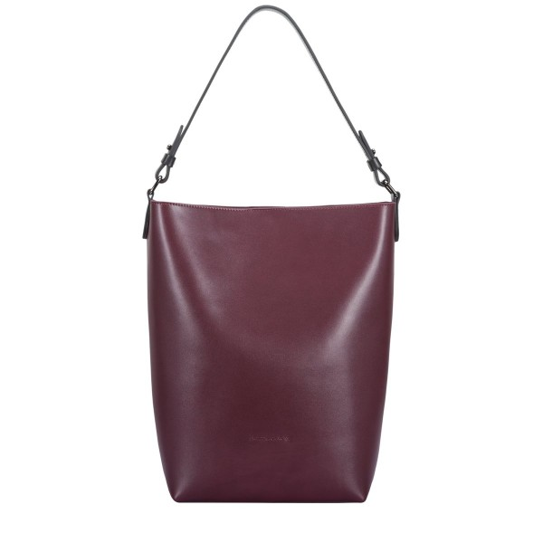 Smooth Leather Bucket Bag