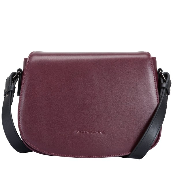 Smooth Leather Flapover Saddle Bag