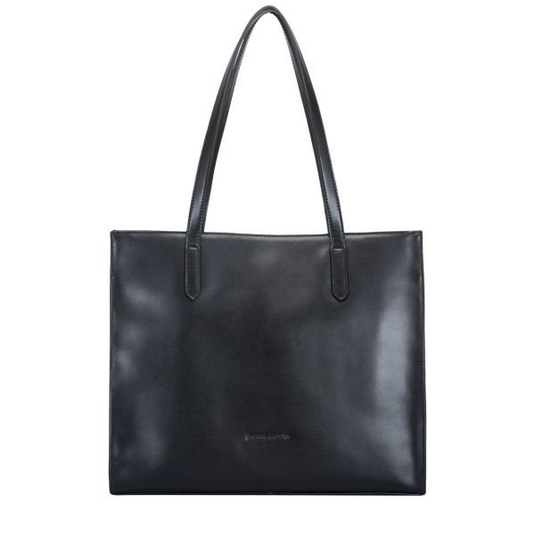 Smooth Leather E/w Structured Tote