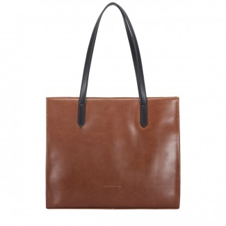 E/w Zip Top Twin Strap Tote Bag