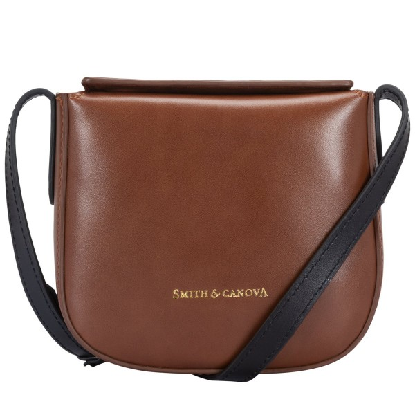 Small Leather Flapover Top Crossbody