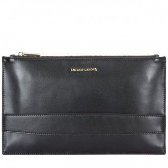 Zip Top Hand Strap Clutch Bag