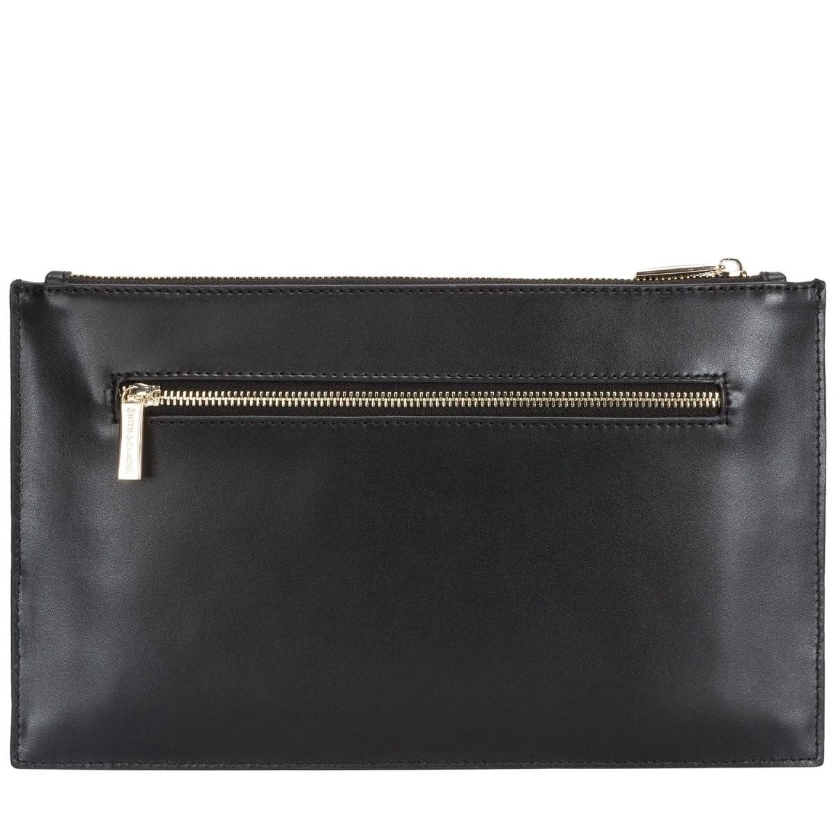 7dd2fbc8eb Smooth Leather Zip Top Clutch Bag - Smith & Canova