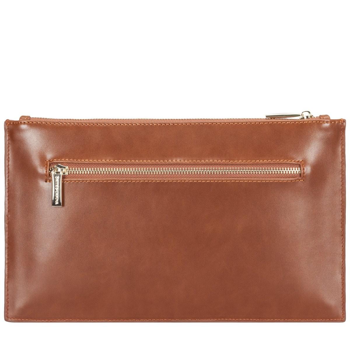Zip Top Hand Strap Clutch Bag