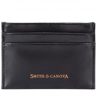 High Shine Leather Credit Card Case