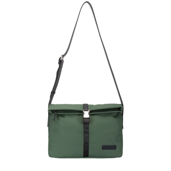 Nylon Fold Over Messenger Bag