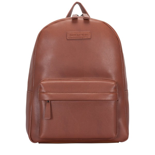 Soft Grain Leather Zip Around Backpack