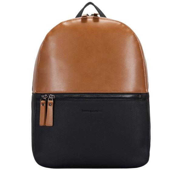 Two-tone Leather Zip Around Backpack