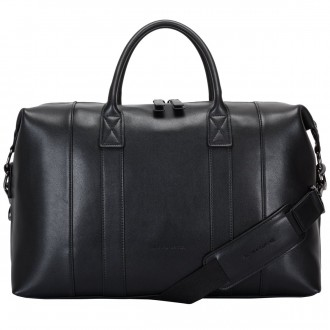Twin Strap Leather Zip Top Holdall