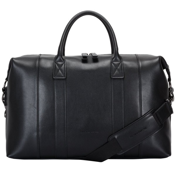 Soft Grain Leather Zip Top Holdall