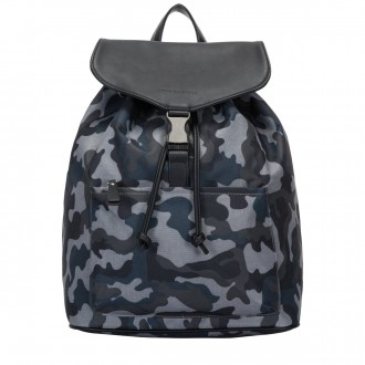Front Pocketed Drawstring Backpack