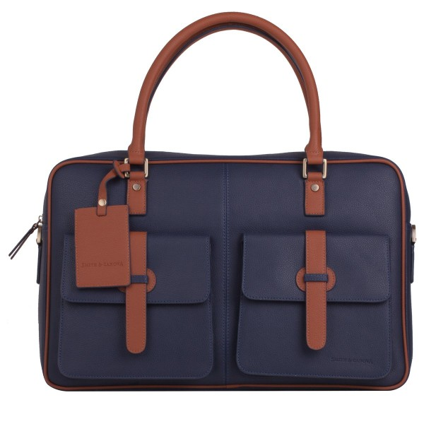 Pebbled Leather Zip Around Briefcase