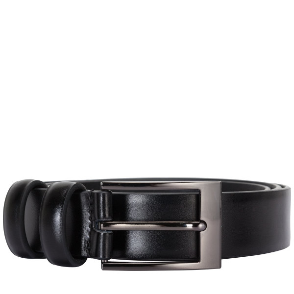 Black High Shine Belt