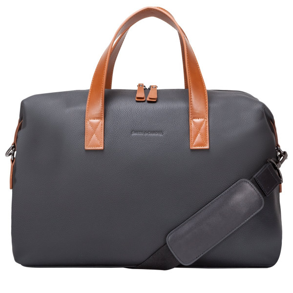 Soft Grain Leather Two-tone Holdall